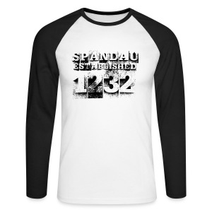 Spandau est. 1232 (schwarz) - Männer Baseballshirt langarm