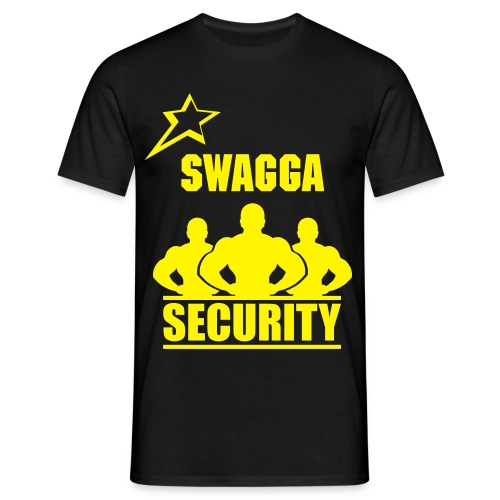 Swagga Security Jaune - T-shirt Homme
