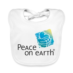 Bio - Bib, Bio Lätzchen - Peace on Earth - Baby Bio-Lätzchen
