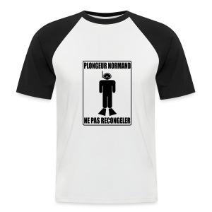 Plongeur Normand - Imp.Flex+logo dos - T-shirt baseball manches courtes Homme