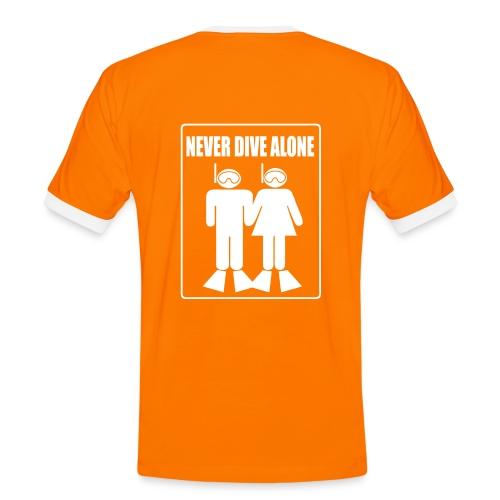 Never Dive Alone Dos- Imp.Flex+Logo poitrine - T-shirt contrasté Homme