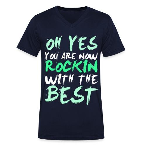 ROCKIN - Männer Bio-T-Shirt mit V-Ausschnitt von Stanley & Stella