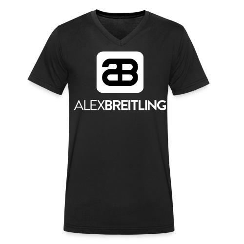 Männer V-Ausschnitt (weißes Logo) - Männer Bio-T-Shirt mit V-Ausschnitt von Stanley & Stella