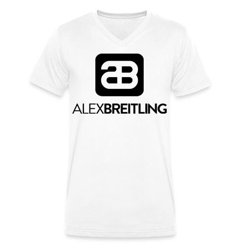 Männer V-Ausschnitt (schwarzes Logo) - Männer Bio-T-Shirt mit V-Ausschnitt von Stanley & Stella
