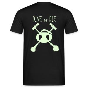 Dive Or Die Phosphorescent+Logo poitrine - T-shirt Homme
