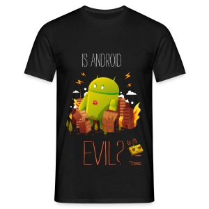 Is Android Evil? - Men's T-Shirt