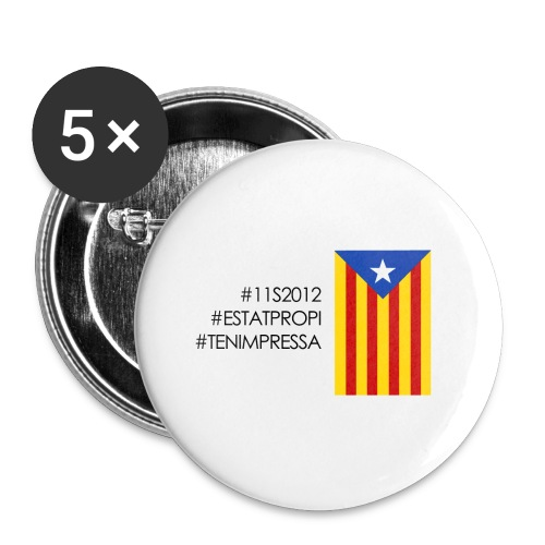 Xapes independentistes - Buttons medium 1.26/32 mm (5-pack)