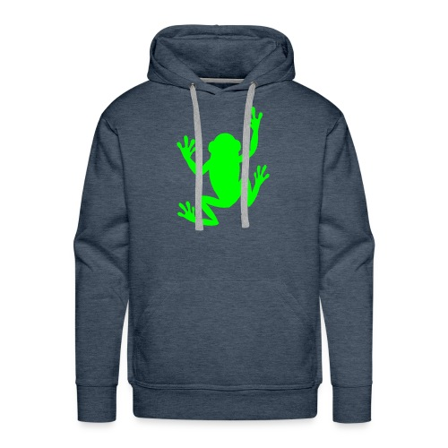 green tropical tree climbing frog - Men's Premium Hoodie