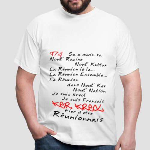 Tee shirt Homme kosement kreol - 974 Ker Kreol - T-shirt Homme