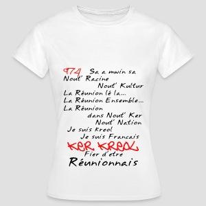 Tee shirt Femme kosement kreol - 974 Ker Kreol - T-shirt Femme