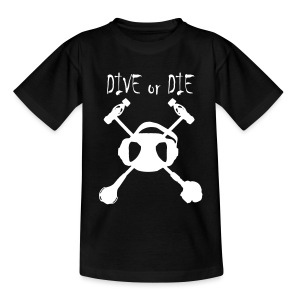 Dive or Die Enfant-Flocage Face+Logo Dos - T-shirt Ado
