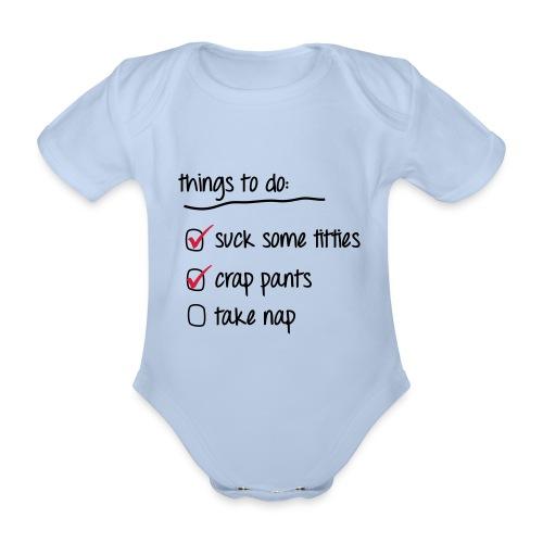 Cose da fare (Boys) - Body ecologico per neonato a manica corta