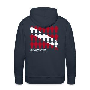be different...dive-Flocage + Logo poitrine - Sweat-shirt à capuche Premium pour hommes