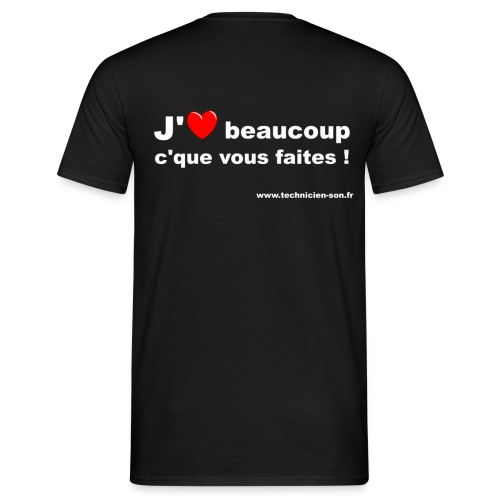 T-shirt version j'aime beaucoup c'que vous faites - T-shirt Homme