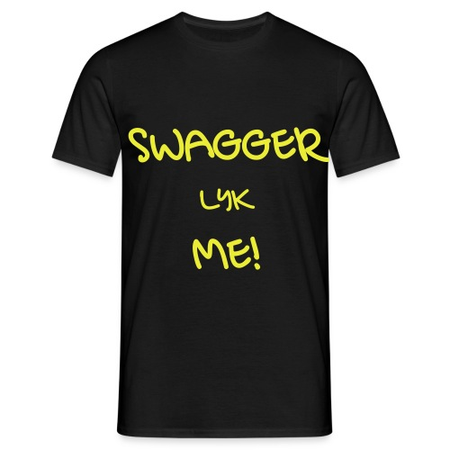 SWAGGER LYK ME BLACK/NEON YELLOW - Men's T-Shirt
