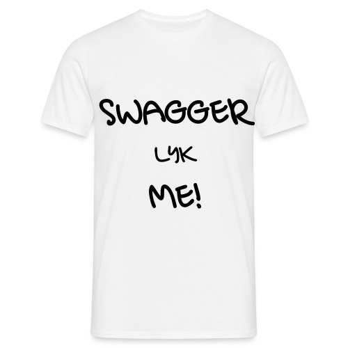 SWAGGER LYK ME WHITE/BLACK - Men's T-Shirt