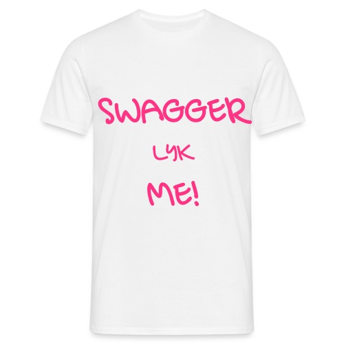 SWAGGER LYK ME WHITE/PINK - Men's T-Shirt