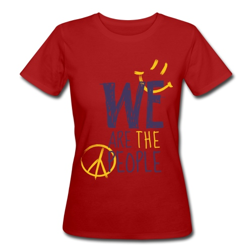 Peace Smiley dark - Women Organic - Frauen Bio-T-Shirt