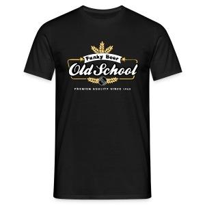 [OldSchool Beer] noir - Men's T-Shirt