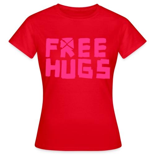 Free hugs - Dame-T-shirt