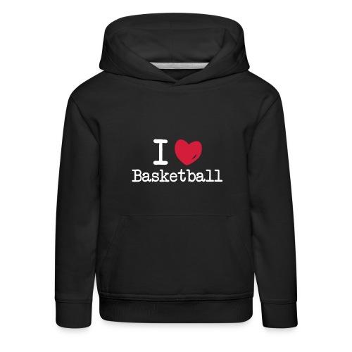 I love basketball ! - enfant - Pull à capuche Premium Enfant