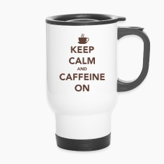 Keep Calm and Caffeine On Mug
