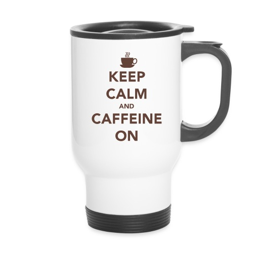 Keep Calm and Caffeine On Mug - Travel Mug
