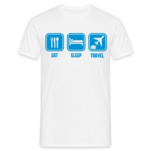Eat Sleep travel - Men's T-Shirt