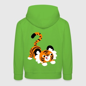 Cute Cartoon Tiger Ready To Pounce!! by Cheerful Madness!! Kids' Tops - Kids' Premium Hoodie