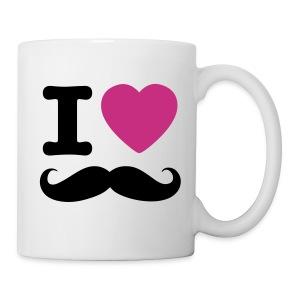 i love mustache - Mok