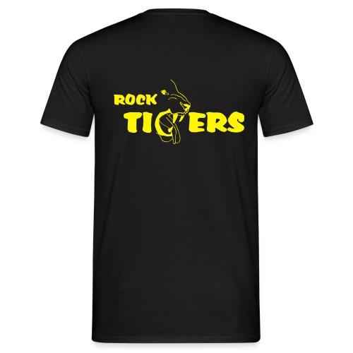T-Shirt, Men (gelber Druck) - Männer T-Shirt