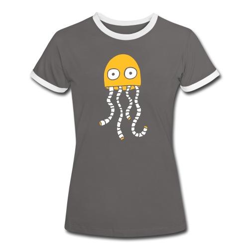 alien1 - Frauen Kontrast-T-Shirt