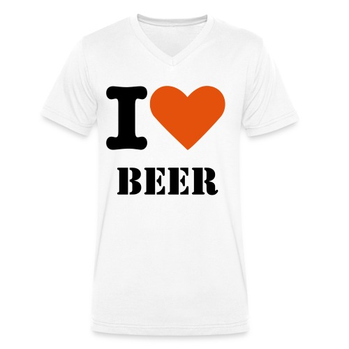 I love beer mug - Men's Organic V-Neck T-Shirt by Stanley & Stella