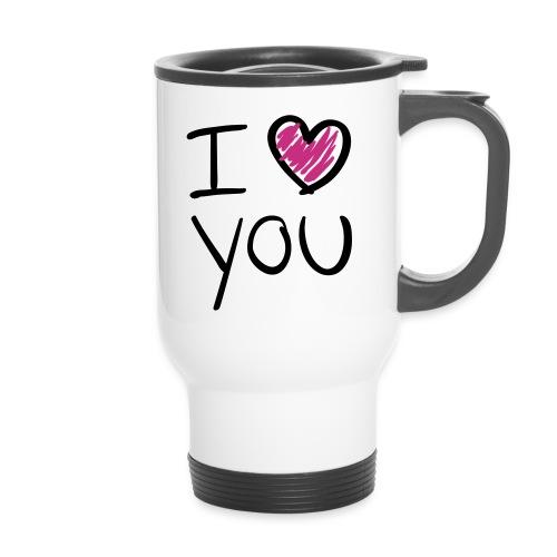 Mug thermos I Love You - Mug thermos