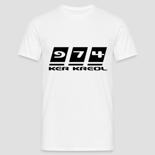 Tee shirt classique Homme 974 ker kreol - T-shirt Homme