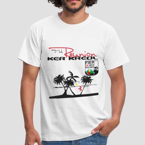 T-shirt Homme 974 Ker Kreol Réunion Noute pays - T-shirt Homme