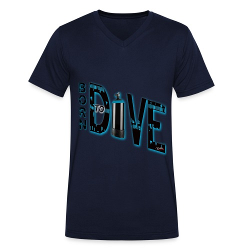 Born to dive - Männer Bio-T-Shirt mit V-Ausschnitt von Stanley & Stella