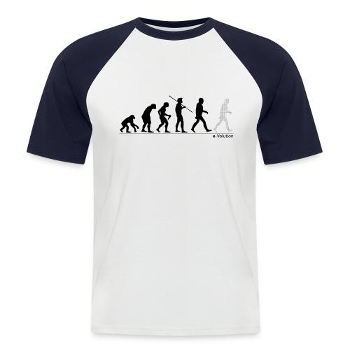 e-volution - T-shirt baseball manches courtes Homme