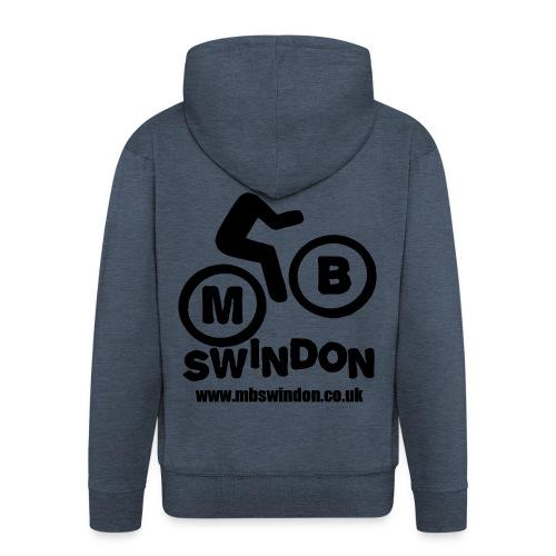 MB Swindon Zipped Hoodie Black Logo - Men's Premium Hooded Jacket