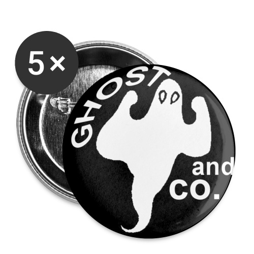 Lot de 5 Badges Ghost and co. - Badge petit 25 mm