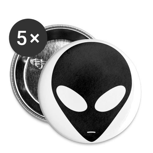 Lot de 5 Badges Alien - Badge petit 25 mm