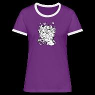 T-Shirts ~ Women's Ringer T-Shirt ~ Action Bunnies