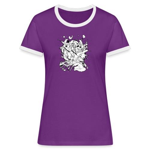 Action Bunnies - Women's Ringer T-Shirt