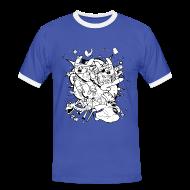 T-Shirts ~ Men's Ringer Shirt ~ Action Bunnies