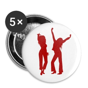 White/Red badge x5 - Buttons small 25 mm