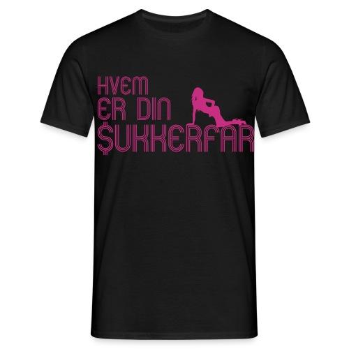 Hvem er din Sukkerfar - Herre-T-shirt