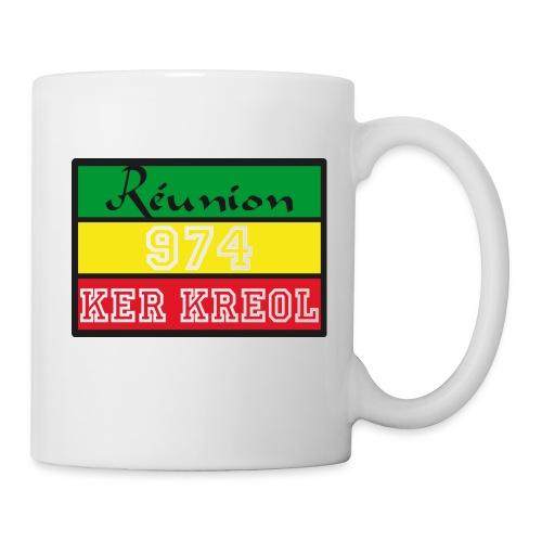 Tasse 974 ker kreol Zam zam Rastafari - Mug blanc