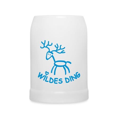 Bierkrug hirsch geweih oktoberfest bayern wildschwein wildsau sauwild - Bierkrug