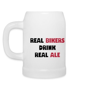 Real Bikers drink Real Ale - Beer Mug