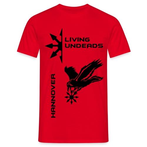 Männer T-Shirt klassisch  HLU new Design+Name - Männer T-Shirt